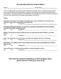 5th Grade Band Progress Report