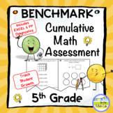 5th Grade Beginning and End of Year Math Assessment with D