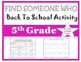 5th Grade Beginning of The Year - Find Someone Who (A 4th