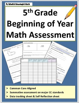 5th Grade Beginning of Year Math Assessment