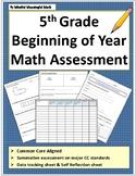 5th Grade Beginning of Year Math Assessment