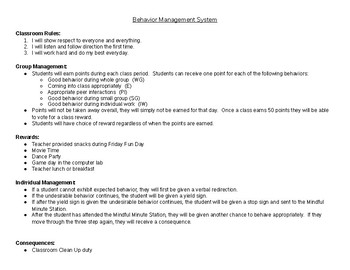 5th Grade Behavior Management