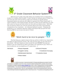 5th Grade Behavior Management Plan-Using Class Dojo
