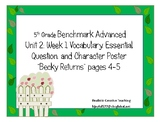 5th Grade Benchmark Advance Vocabulary Unit 2 week 1  Becky Returns