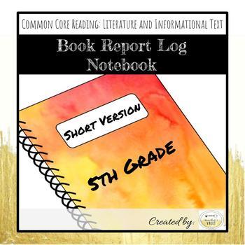 5th Grade Book Report Log