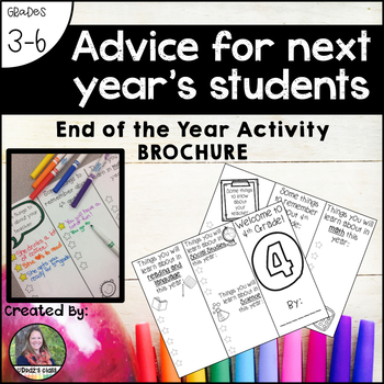Advice for next year's students: end-of-the-year activity {brochure}