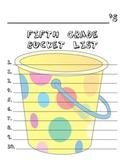 5th Grade Bucket List