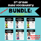 5th Grade Build Vocabulary Bundle for McGraw Hill Wonders