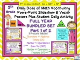 Daily Dose of Math Vocabulary Algebra + Base Ten + Fractions BUNDLE 5th Gr