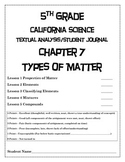 5th Grade CA Science CH 7 Types of Matter Student Engageme