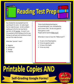 5th Grade CAASPP Test Prep Practice Tests for English Language Arts