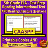 5th Grade CAASPP Test Prep Practice for English Language Arts
