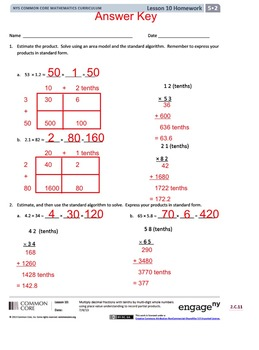 5th Grade CC Math Module 2 Topic C Lessons 10-12