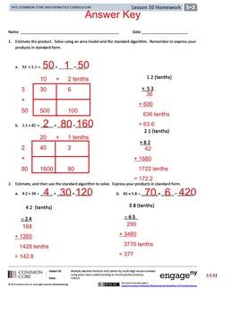 5th Grade CC Math Module 2 Topic C Lessons 10-12 PDF Version