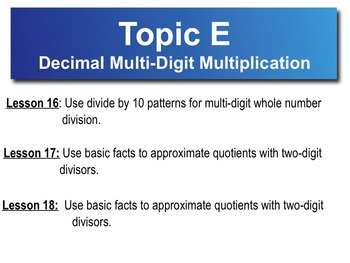 5th Grade CC Math Module 2 Topic E Lessons 16 - 18