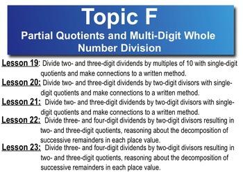 5th Grade CC Math Module 2 Topic F Lessons 19 -23