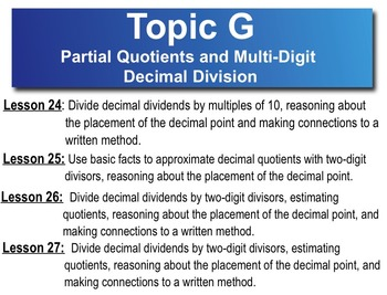 5th Grade CC Math Module 2 Topic G Lessons 24 - 27