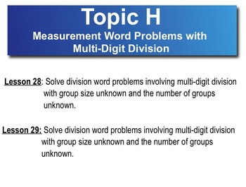 5th Grade CC Math Module 2 Topic H Lessons 28 - 29 Word Problems
