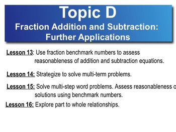 5th Grade CC Math Module 3 Topic D Lessons 13-16