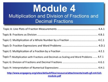 5th Grade CC Math Module 4 Complete Topics A-H