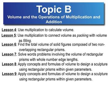 5th Grade CC Math Module 5 Topic B Lessons 4-9