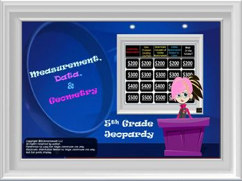 Math Jeopardy:  Measurement, Data, and Geometry (5th Grade CCS)
