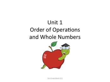 5th Grade CCS Math for Posting Generic Nomenclature- Student Friendly
