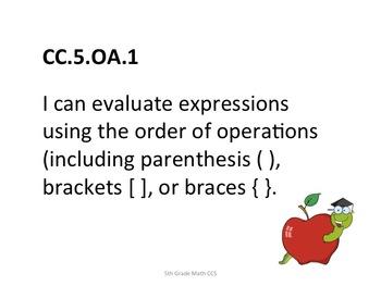 5th Grade CCS Math for Posting Generic Nomenclature- Stude