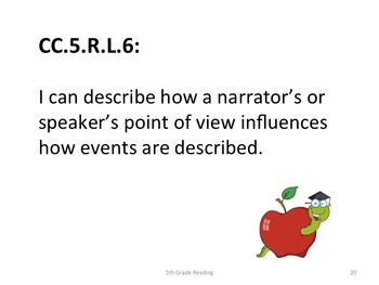 5th Grade CCS Reading for Posting Generic Nomenclature- Student Friendly