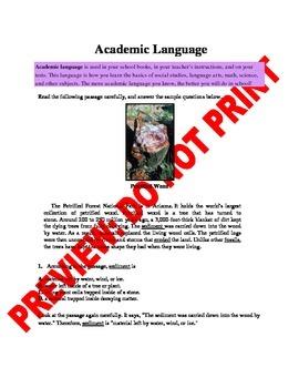 5th Grade CCSS Academic Language