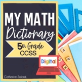 5th Grade DIGITAL MATH DICTIONARY for GOOGLE Common Core Math Vocabulary