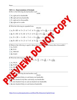 5th Grade CCSS Decimal Assessment Bundle