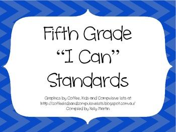 5th Grade CCSS ELA I Can Standards
