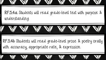 5th Grade CCSS (ELA, Writing, & Math Standard Displays)