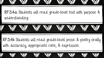 5th Grade CCSS (ELA, Writing, & Math Standard Displays)