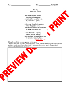 5th Grade CCSS Figurative Language Constructed Response Bundle