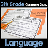5th Grade Language Common Core