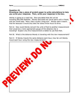 5th Grade CCSS Math Conversion Assessment Bank