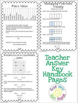 5th Grade CCSS Math Handbook