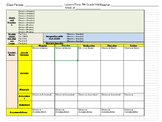 5th Grade CCSS Math Lesson Plan template with drop down menus