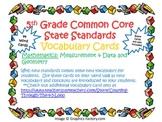 5th Grade CCSS Math Vocabulary Cards Set 2