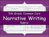 5th Grade CCSS Narrative Writing Rubric