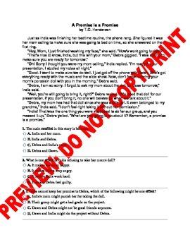 5th Grade CCSS Plot Assessment