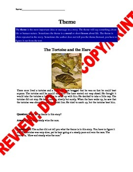 5th Grade CCSS Theme Assessment and Guided Notes