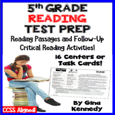 5th Grade Reading Center, Passages With Critical Thinking