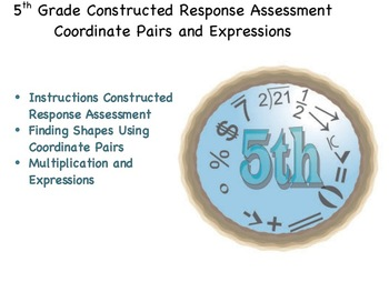 5th Grade CRA: Coordinate Pairs and Expressions