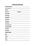 5th Grade CST Test Prep Notes for Students to Fill In