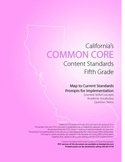 5th Grade Ca Common Core Content Standards with Prompts fo