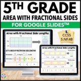 5th Grade Calculate Area with Fractional Sides {5.NF.4B} Google Classroom