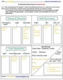5th Grade Career Portfolio Project Graphic Organizer & Completed Example